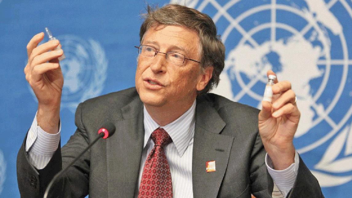 Bill Gates recunoscând că investiția sa de 10 miliarde de dolari în vaccinuri i-a adus 200 de miliarde de dolari