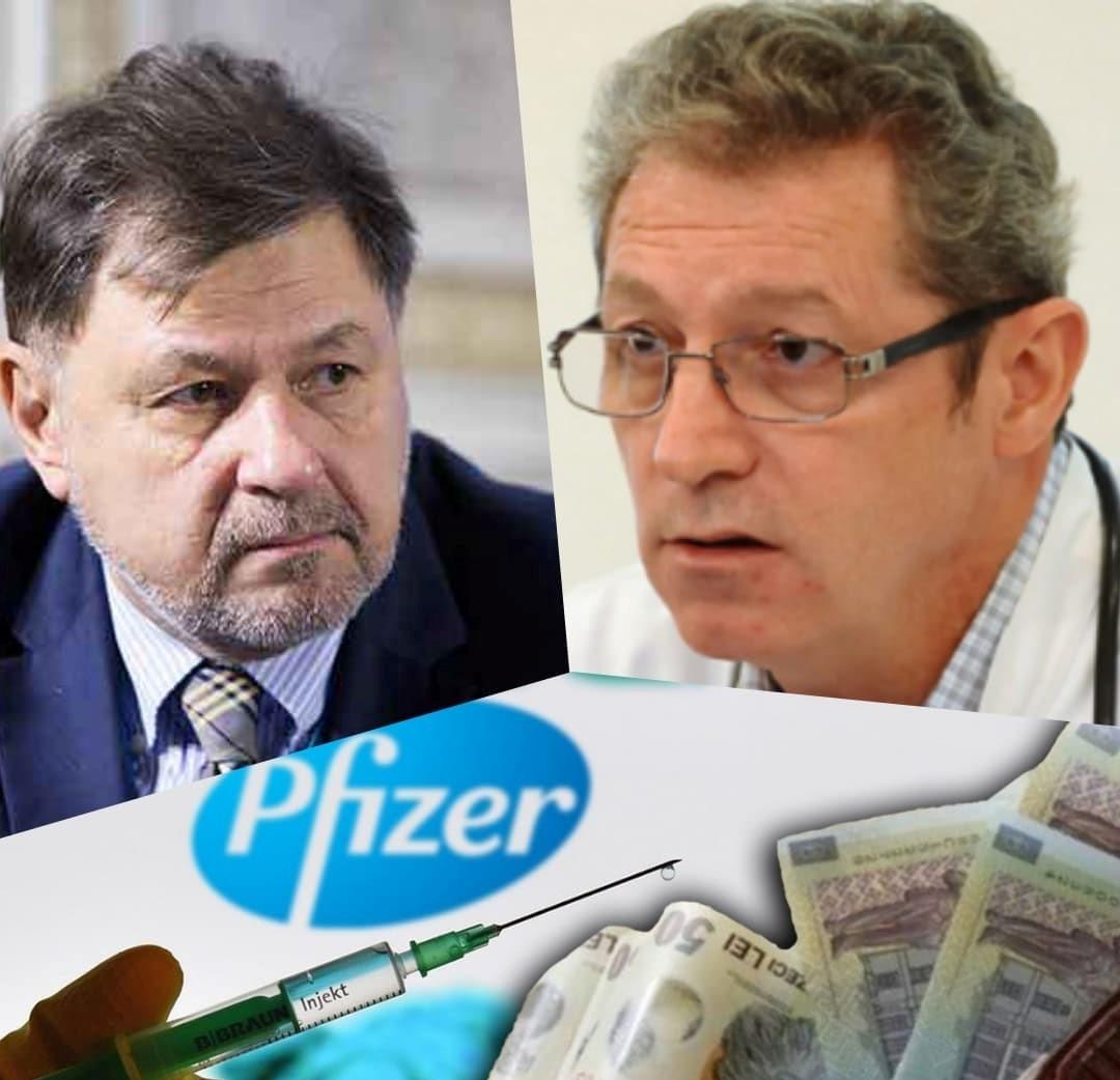 Vacciniștii Streinu-Cercel și Alexandru Rafila sunt plătiți de ani de zile de compania PFIZER prin sponsorizări grase de sute de mii de lei
