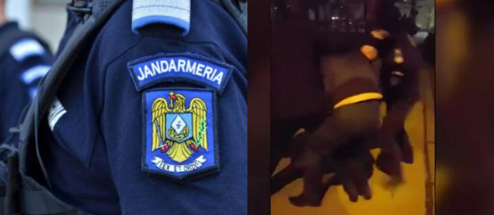 VIDEO:Un bătrân pus la pământ de jandarmi pentru nepurtarea măștii