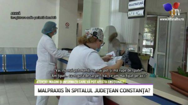 Malpraxis în Spitalul Județean Constanța: A murit în chinuri groaznice legată de pat