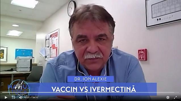 Medicul Ion Alexie explică în ce mod utilizează Ivermectina în tratamentul bolnavilor de coronavirus