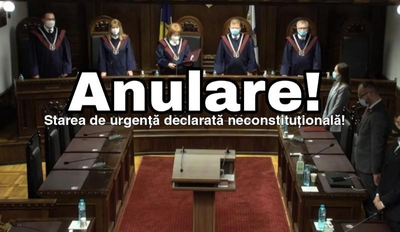 Moldova – CC a declarat starea de urgență neconstituțională!