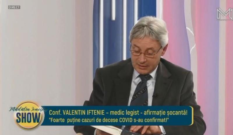"""Prof. Dr. Valentin Iftenie, medic legist la """"Mina Minovici"""", arunca in aer pandemia: E o mascarada!"""